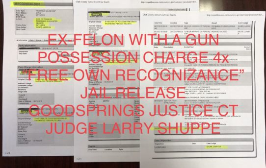 EX-FELON WITH 4X GUN POSSESSION CHARGES - UNACCOUNTABLE JAIL RELEASE