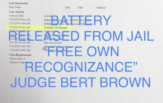 "BATTERY - ""O.R."" RELEASE JUDGE BERT BROWN"