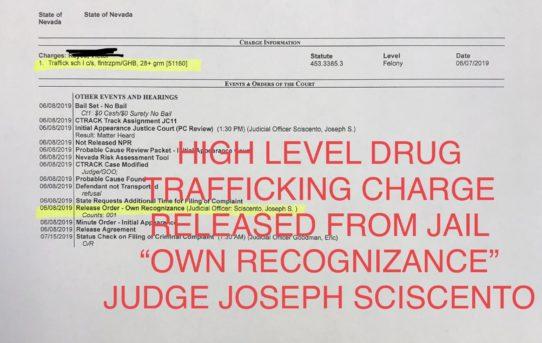 "HIGH LEVEL DRUG TRAFFICKING CHARGE - ""O.R."" RELEASE JUDGE JOSEPH SCISCENTO"