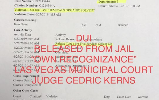 "DUI CHARGES - ""O.R."" RELEASE JUDGE CEDRIC KERNS"
