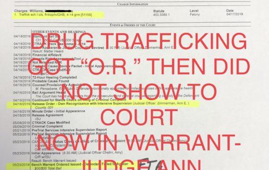 "DRUG-TRAFFICKING ""O.R."" - NOW IN WARRANT - JUDGE ANN ZIMMERMAN"