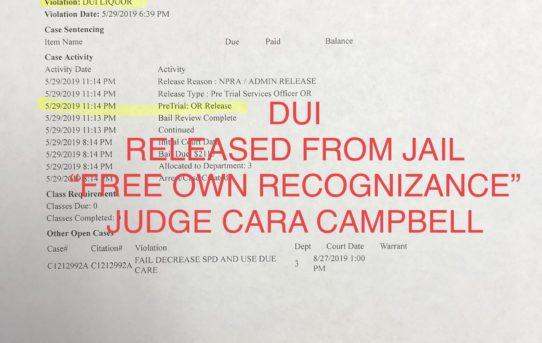 "DUI - ""O.R."" RELEASE JUDGE CARA CAMPBELL"