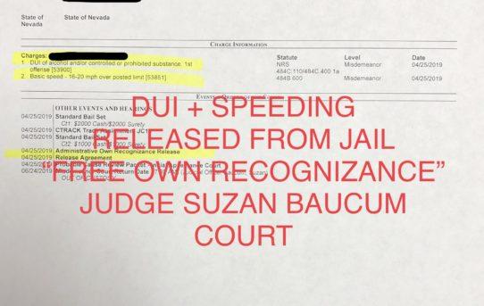 """DUI + SPEEDING - """"O.R."""" RELEASE JUDGE SUZAN BAUCUM COURT"""