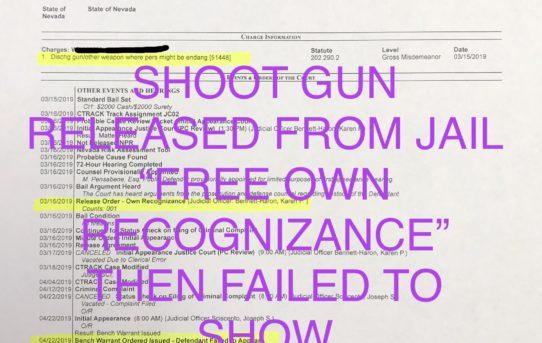 "SHOOT GUN - ""O.R."" RELEASE JUDGE BENNETT-HARON"
