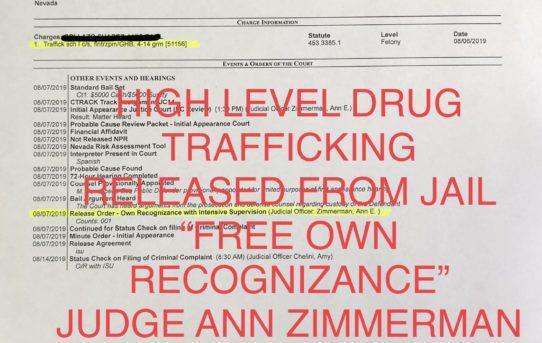 "HIGH LEVEL DRUG TRAFFICKING - ""O.R."" RELEASE JUDGE ANN ZIMMERMAN"