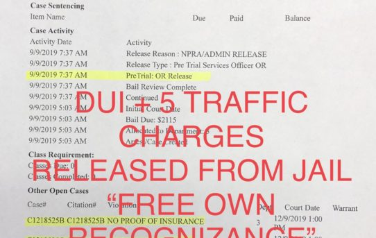 "DUI + 5 TRAFFIC CHARGES - ""O.R."" RELEASE JUDGE CARA CAMPBELL"