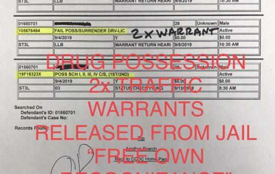 """DRUG POSS. + TRAFFIC WARRANTS - """"O.R."""" RELEASE JUDGE ANN ZIMMERMAN"""