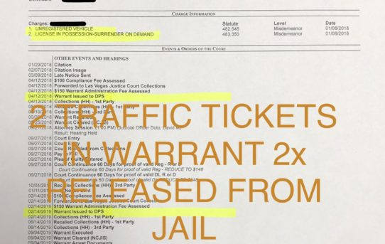 """2x WARRANT ON TICKETS - """"O.R."""" RELEASE"""