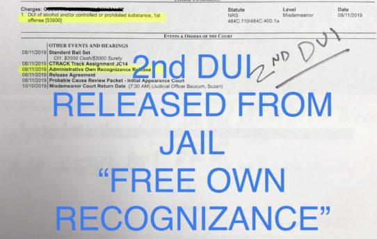 "2nd DUI - ""O.R."" RELEASE JUDGE SUZAN BAUCUM"