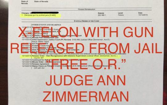 """X-FELON WITH GUN - """"O.R."""" RELEASE JUDGE ANN ZIMMERMAN"""