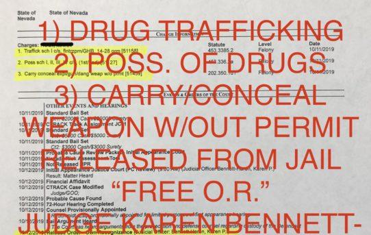 """DRUG TRAFFICKING + CARRY GUN - """"O.R."""" RELEASE JUDGE KAREN BENNETT-HARON"""