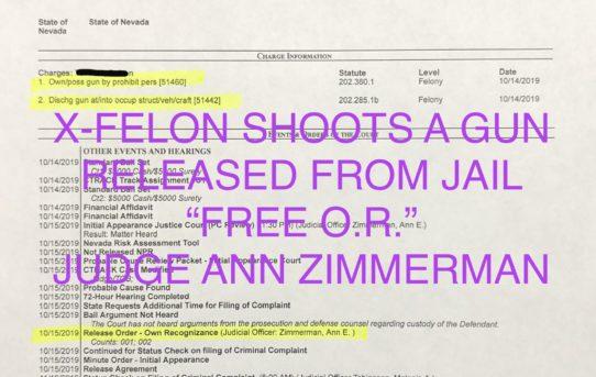 """X-FELON SHOOTS A GUN - """"O.R."""" RELEASE JUDGE ANN ZIMMERMAN"""