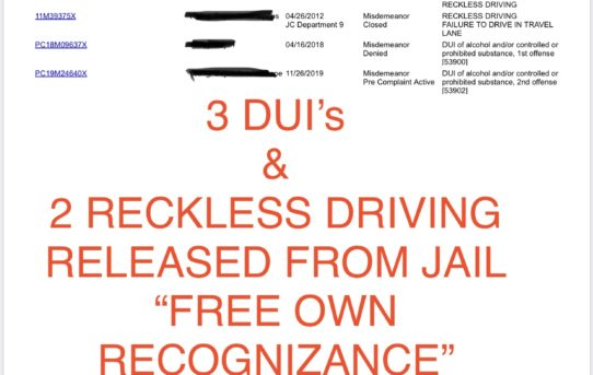 "3 DUIs & 2 RECKLESS DRIVING - ""O.R."" RELEASE JUDGE ANN ZIMMERMAN"