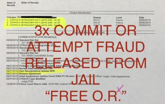 """3x COMMIT OR ATTEMPT FRAUD - """"O.R."""" RELEASE"""