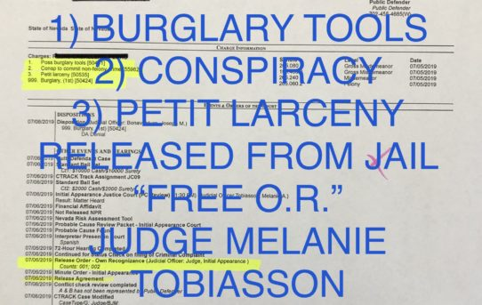 "BURGLARY TOOLS/ Conspiracy/ Larceny - ""O.R."" RELEASE JUDGE MELANIE TOBIASSON"