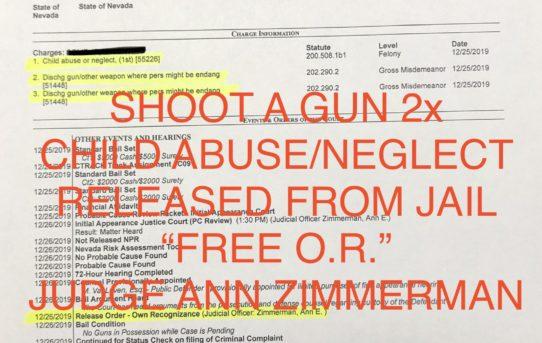 """SHOOT A GUN 2x + CHILD ABUSE - """"O.R."""" RELEASE JUDGE ANN ZIMMERMAN"""